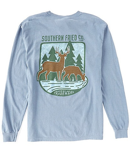 Southern Fried Cotton Buck & Doe Graphic Long-Sleeve Tee
