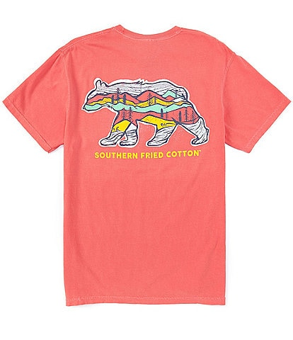 Southern Fried Cotton Men's Big Bear Short-Sleeve Pocket Graphic Tee