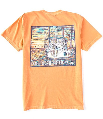 Southern Fried Cotton Men's Catch This Short-Sleeve Pocket Graphic Tee