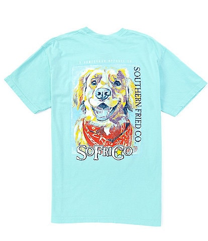 Southern Fried Cotton Men's Golden Short-Sleeve Pocket Graphic Tee