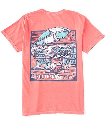 Southern Fried Cotton Men's Ocean View Short-Sleeve Pocket Graphic Tee