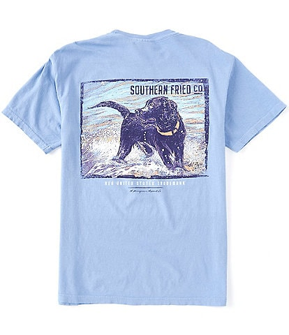 Southern Fried Cotton Men's Surf Pup Short-Sleeve Pocket Graphic Tee