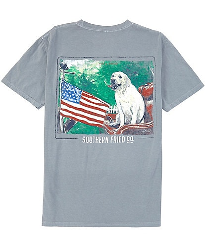 Southern Fried Cotton Men's Waggin Flag Short-Sleeve Pocket Graphic Tee
