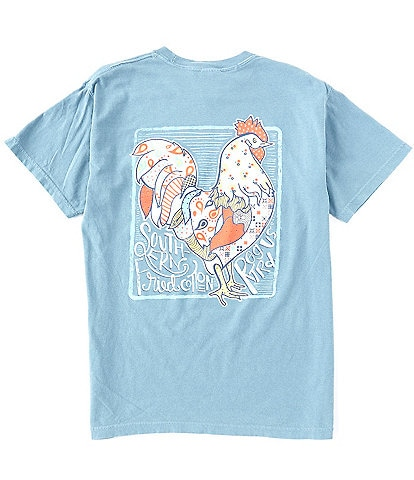 Southern Fried Cotton Men's Rise n Shine Short-Sleeve Pocket Graphic Tee