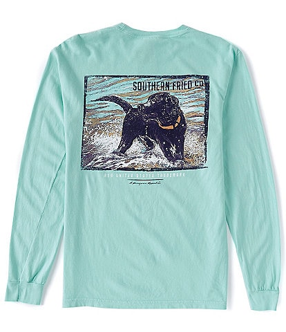 Southern Fried Cotton Surf Pup Graphic Long-Sleeve Tee