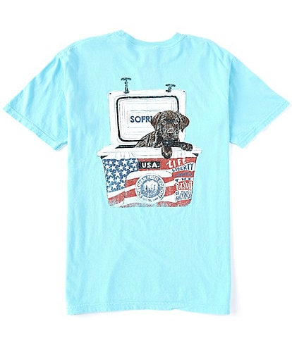 Southern Fried Cotton Men's USA Short-Sleeve Pocket Graphic Tee