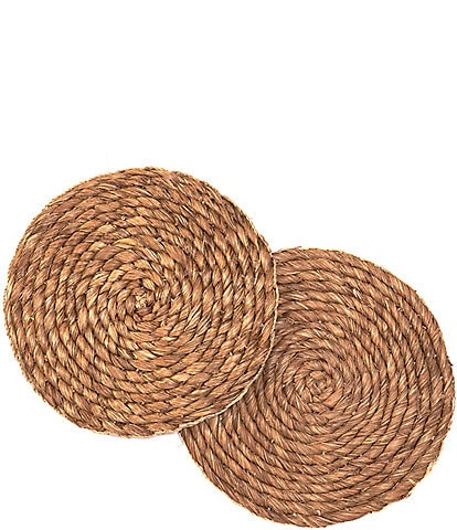 Southern Living 15#double; Abaca Seagrass Chargers, Set of 2