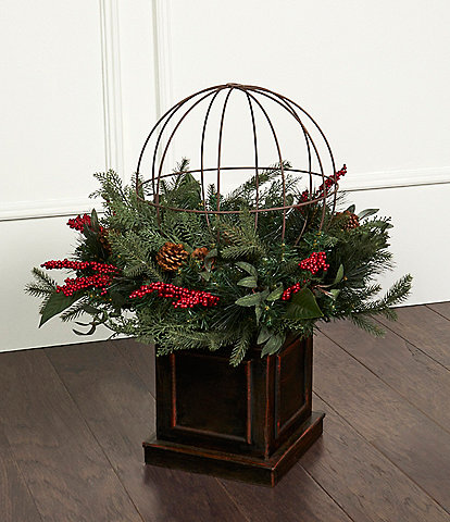 Southern Living 28#double; Square Base Topiary