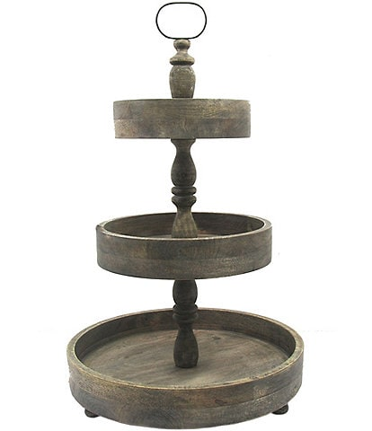 Southern Living Spring Collection 3-Tier Wood Server