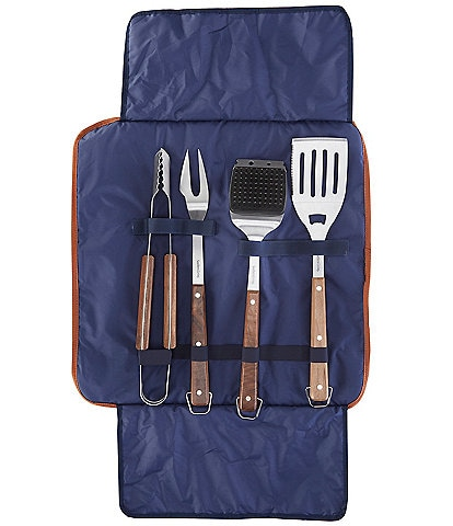 Southern Living 4-Piece BBQ Grill Tool Set with Carry Bag