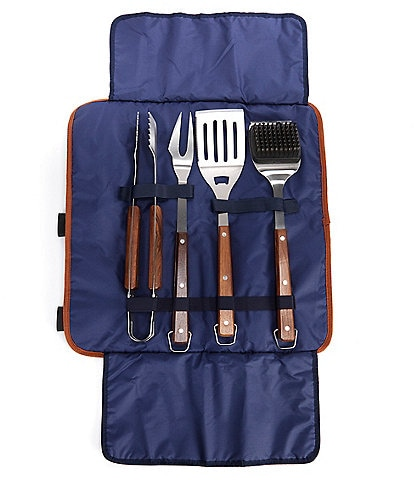 Southern Living 4-Piece BBQ Tool Set with Carry Bag