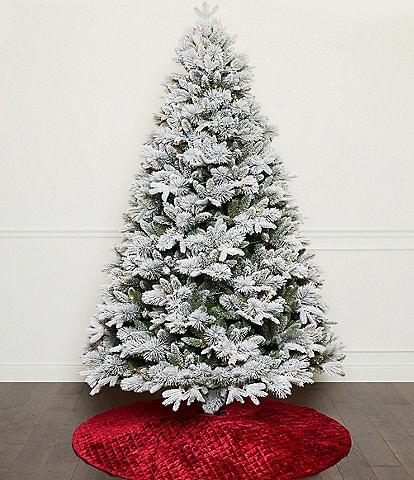 Southern Living 7.5 ft Pre-lit LED Cashmere Flocked Tree