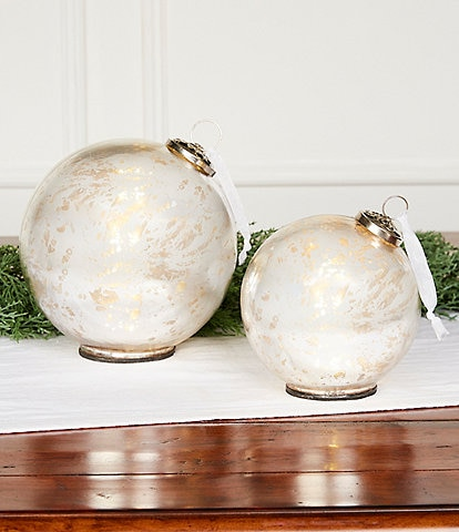 Southern Living A Christmas Classic Collection Silver Mercury Glass Ornament Tabletop Decor