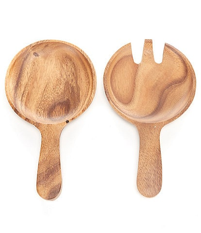 Southern Living Acacia Wood Big Salad Servers
