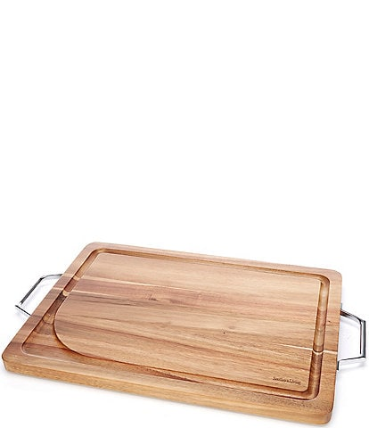 Southern Living Acacia Wood Cutting Board with Handles