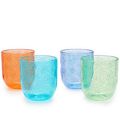 Southern Living Acrylic Bubble Stemless Stacking Glasses, Set of 4