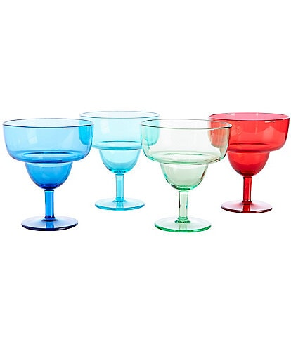 Southern Living Acrylic Margarita Glasses, Set of 4