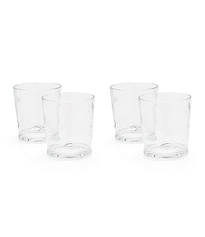 Southern Living Acrylic Ribbed Double Old-Fashion Drinkware