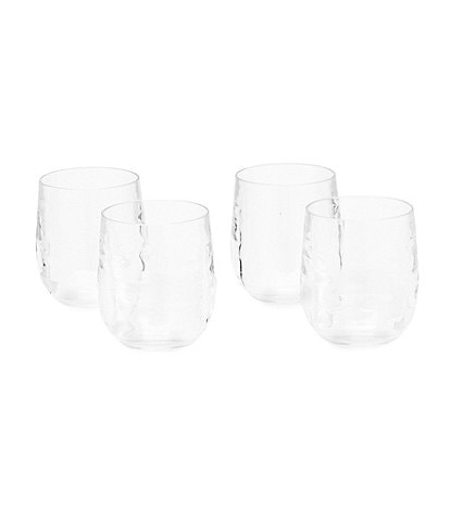 Southern Living Acrylic Ribbed Stemless Wine Glasses