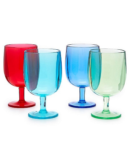 Southern Living Acrylic Wine Short Goblets, Set of 4