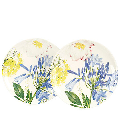 Southern Living Agapanthus Floral Accent Plates, Set of 2