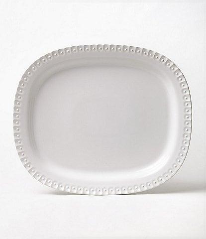 Southern Living Alexa Embossed Stoneware Oval Platter