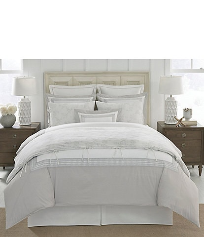 Southern Living Amelie Embroidered Percale Comforter Mini Set