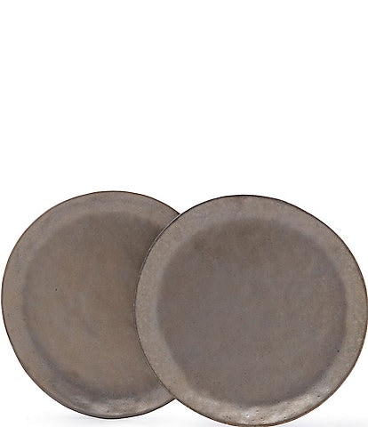 Southern Living Astra Collection Glazed Bronze Dinner Plates, Set of 2