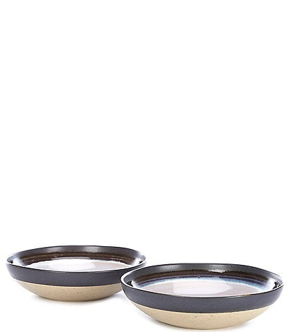 Southern Living Astra Collection Glazed Stripe Pasta Bowls, Set of 2