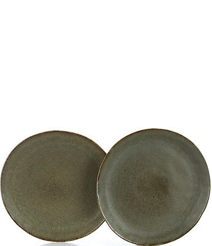 Southern Living Astra Collection Matte Green Salad Plates, Set of 2