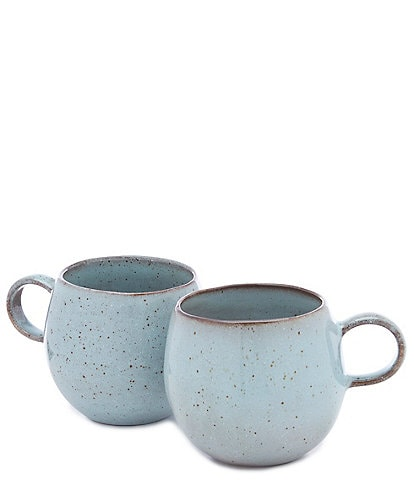 Southern Living Astra Collection Glazed Belly Coffee Mugs, Set of 2