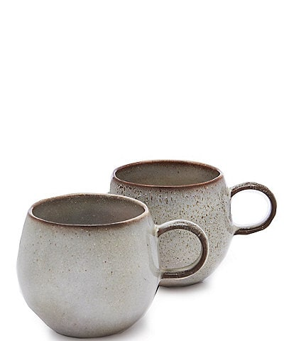 Southern Living Astra Glazed Belly Coffee Mugs, Set of 2