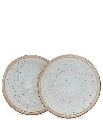Southern Living Astra Glazed Coastal Dinner Plates, Set of 2