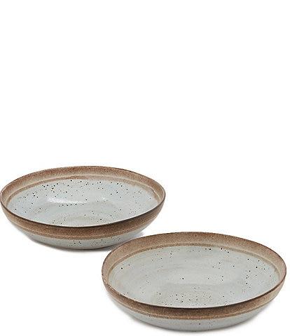 Southern Living Astra Glazed Coastal Pasta Bowl, Set of 2