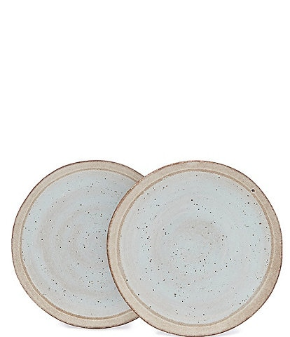 Southern Living Astra Glazed Coastal Side Plate, Set of 2