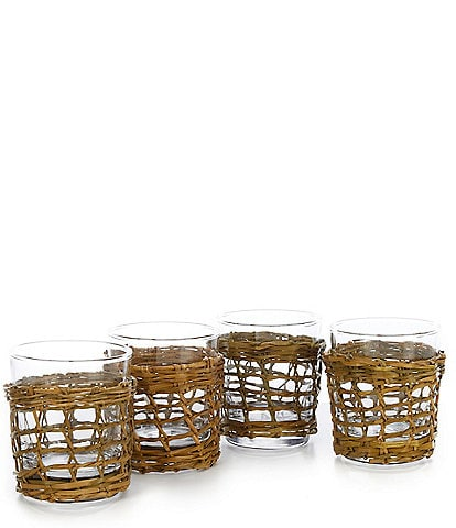 Southern Living Bali Double Old Fashioned Glasses, Set of 4
