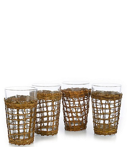 Southern Living Bali Highball Glasses, Set of 4