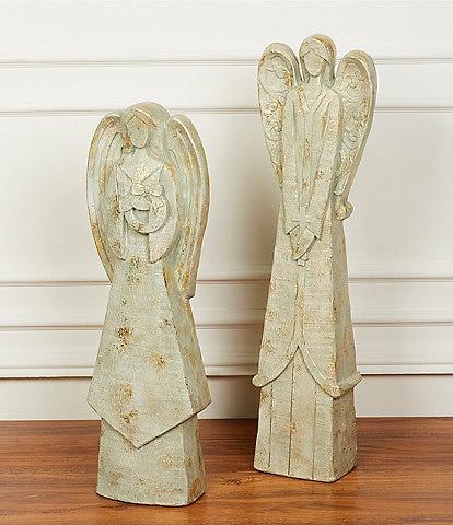 Southern Living Belle Noel Collection Grey Sandstone Angel Figurine