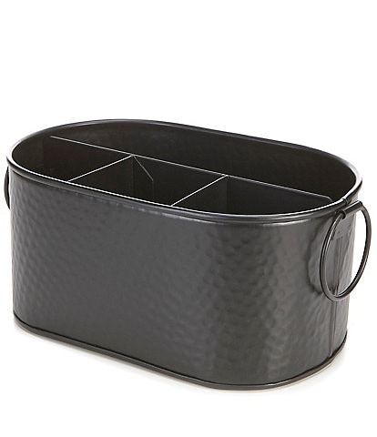 Southern Living Black Hammered Metal Caddy
