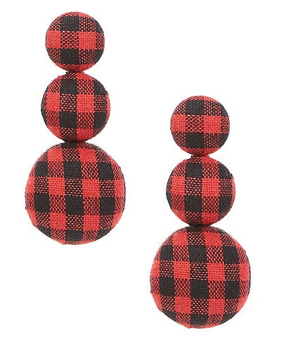 Southern Living Check Triple Drop Earrings