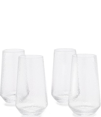 Southern Living Clear Textured Highball Drinkware, Set of 4