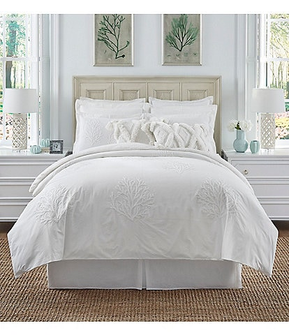 Southern Living Coastal Collection Bayfield Embroidered Crewel Duvet Mini Set