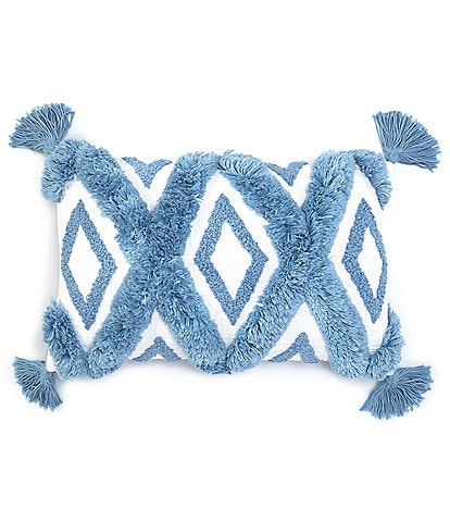 Southern Living Coastal Collection Diamond Patterned Rectangular Pillow