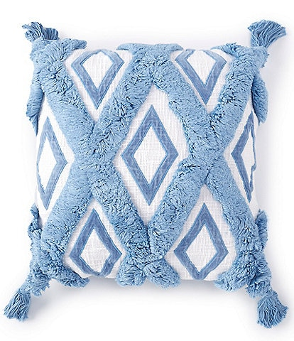 Southern Living Coastal Collection Diamond Patterned Square Pillow