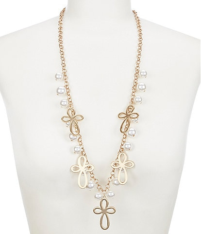 Southern Living Cross Pearl Necklace