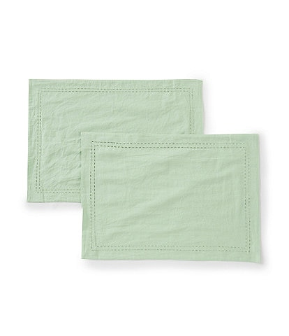 Southern Living Easter Bunny Collection Double-Hem-Stitched Linen Placemats, Set of 2