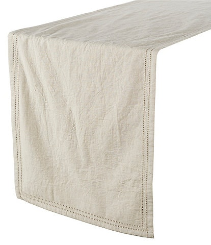 Southern Living Double-Hem-Stitched Linen Table Runner