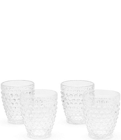 Southern Living Hobnail Double Old-Fashion Glass, Set of 4