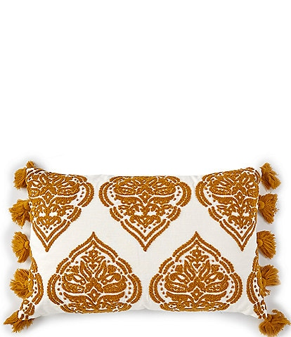 Southern Living Embroidered Medallion Breakfast Pillow