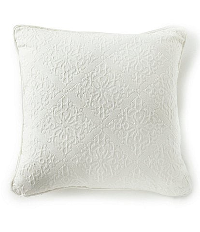Southern Living Emery Tile Jacquard Matelass Square Pillow